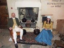 Two of our costumed actors help us recreate the first Burns Supper in the cottage kitchen